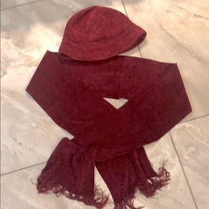 💥HOST PICK💥Scarf and bucket hat knit set